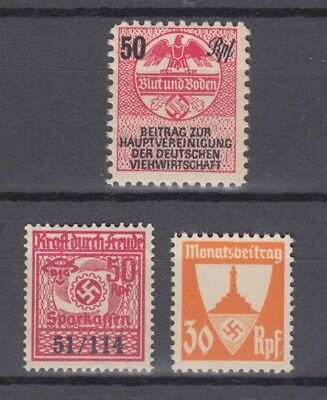 Lot Third Reich Revenues,Taxes,Dues,Saving Stamps