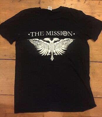 THE MISSION Rare Original Official T Shirt, Size Large - Sisters Of Mercy - 99p!