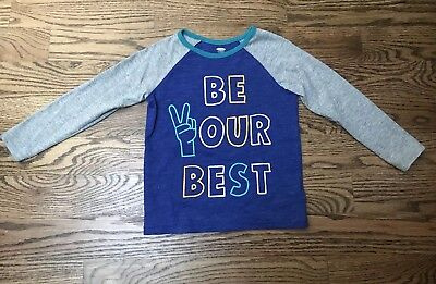 Old Navy Toddlers Boys Blue graphics long sleeve tee size 5T EUC