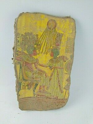 RARE ANCIENT EGYPTIAN ANTIQUE RAMSES III and Nefertari Fragment 1345-1221 BC