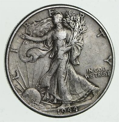 Strong Feather Details - 1944 Walking Liberty Half Dollar *365