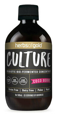 Herbs Of Gold Culture Probiotic Bio-Fermented Concentrate 500Ml Coco Berry