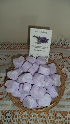 MOTHERS DAY CALMING LAVENDER ESSENTIAL OIL MINI BATH BOMBS  Pkt10