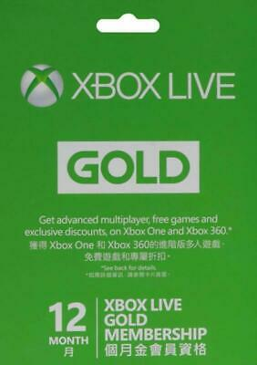 Microsoft Xbox Live 12 Month Gold Membership Card Instruction In Arabic Game