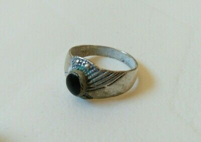 rare ancient viking ring metal color silver artifact amazing