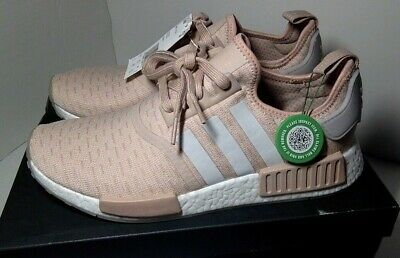 ce0c49257 Adidas NMD R1 Runner Women s Ash Pearl Chalk Pink 3M White CQ2012 Boost Size  11