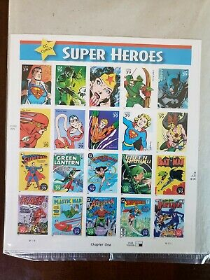 DC Comics Super Heroes Full Sheet Of 20 X 39 Cent Postage Stamps USA 2006 NEW