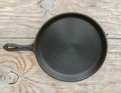Antique Cast Iron No. 9 Gate Marked Handled Griddle/Shallow Skillet Heat Ring