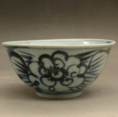 China old hand-mad  blue-and-white porcelain plum blossom small bowl  the