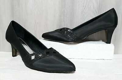 e3ab2fd737 Womens Easy Street Alive 5 Valiant Black Classic Dance Flex Dress Pump Sz  11M