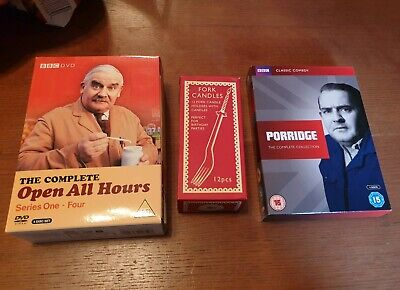 Fork Candles, Two Ronnies, complete open all hours and porridge DVD box set