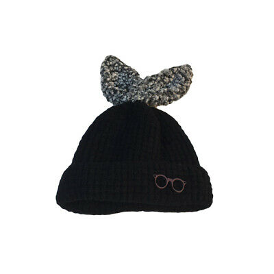 Kids Baby Child Warm Winter Knitted Beanie Hat Crochet Ski Cap Rabbit Ear