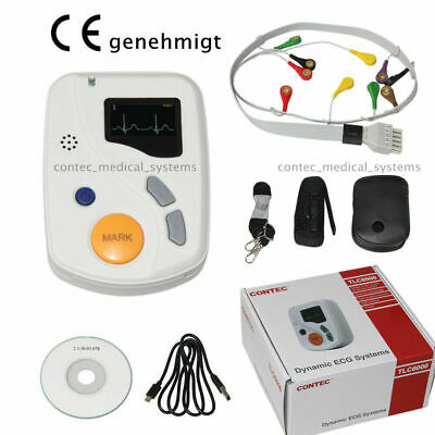 CE TLC6000 Holter Sistema ECG Monitor a 12 canali a 48 ore, analisi software