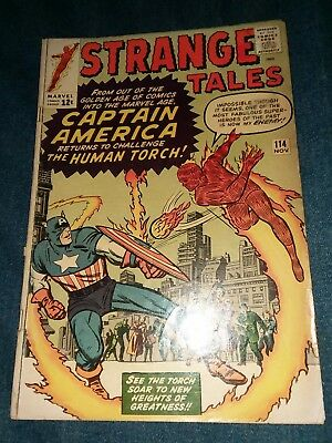 Strange Tales #114 1st Silver Age CAPTAIN AMERICA 3rd dr strange appearance 1963