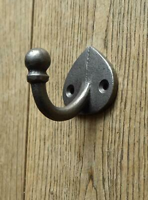 Lovely arts and crafts style cast iron single coathook hook hanger MF1