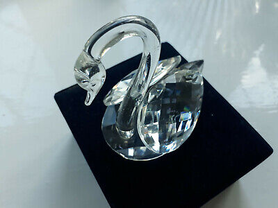 Large Crystal Swan ornament with long neck