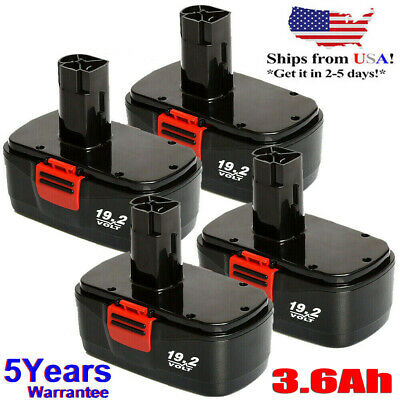 4 Pack 19.2 Volt Ni-Cd Battery for Craftsman C3 11375 130279005 Cordless Drill