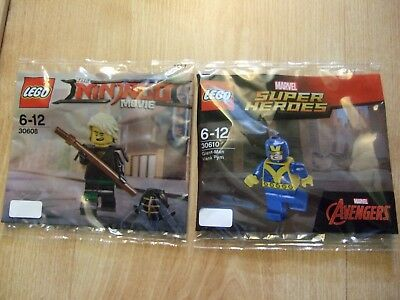 2x Lego Figures Marvel Super Heroes Giant-Man Hank Pym 30610 & Ninjago 30608