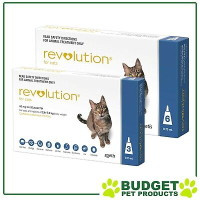 Revolution For Cats 2.6-7.5kg Blue 9 Doses