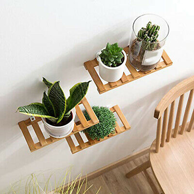 Wooden Wall Storage Rack Solid Wood Partition Shelf TV Wall Hanging Decor 8C