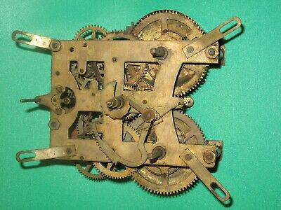Antique  New Haven (Trade Mark) Usa Movement Mantle Clock - Chime.