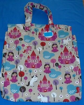 "Shoulder Pillow Bag For 18"" Pillow . 'Pretty Princess' Patterned Material. 2 Zip"