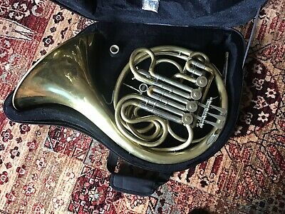 Lidl F/Bb Full Double Horn + Brand New Case and Paxman 4B Mouthpiece. Serviced.