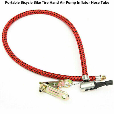 Portable Cycling Bicycle Bike Tire Air Pump Inflator Replacement Hose Tube 60cmH