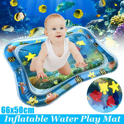 Baby Water Play Mats Premium Tummy Time Inflatable Water Mat for Infants 66x50cm