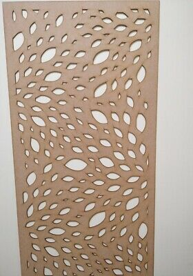 Radiator Cabinet Decorative Screening Perforated 3mm & 6mm thick MDF lasercutDL1