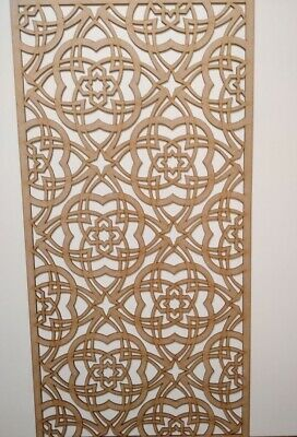 Radiator Cabinet Decorative Screening Perforated 3mm & 6mm thick MDF lasercutZF1
