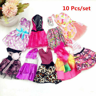 "10Pcs Fashion Beautiful Handmade Dresses Clothes For 11"" Doll Style Random Gift"