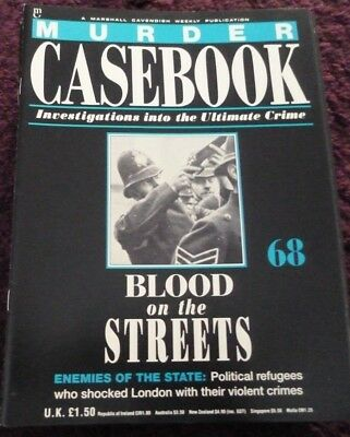 Murder Casebook Magazine*True Crime*#68*Blood On The Streets*Enemies Of State