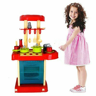 Electronic Portable Kitchen Cooking Role Play Set Kids Children Stove Cooker Toy