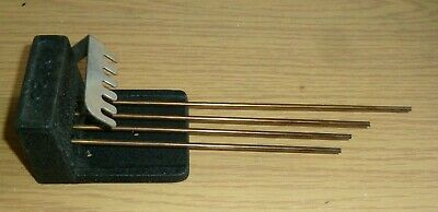 Vintage Smiths 1950's Westminster Chime gong rods with block No 25
