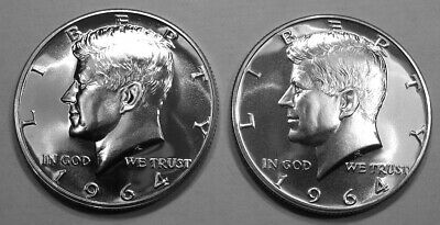 1964 Kennedy Half Dollar Proof x 2 Lot of 2 Gem Proof From Proof Sets