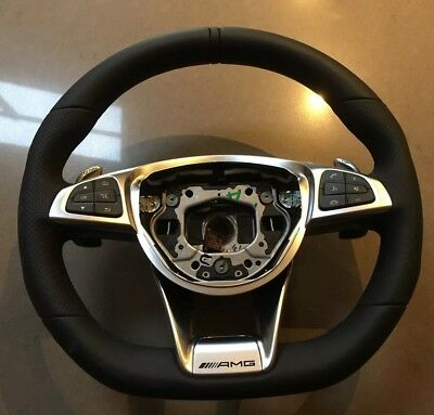 Genuine Mercedes W205 C63 Amg Steering Wheel Coupe Saloon C Class A2054601403