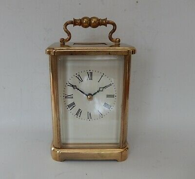 Large Late 20th.C Rapport Brass Case carriage Clock Fully Working 2956