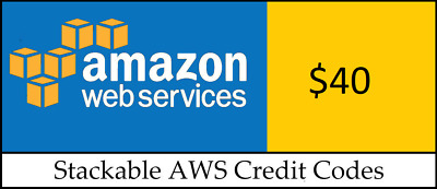 $40 Amazon Web Services (AWS) Credit Code