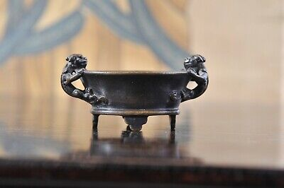 Chinese Bronze censer, small, 16 th century, marked