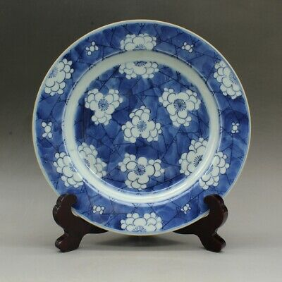 China old hand-made plum blossom porcelain dish