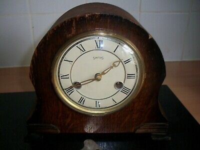 Small Smiths Enfield 8 Day Striking Mantel Clock