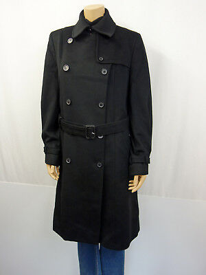 NEU BURBERRY London Trenchcoat Mantel Gr44 I48 USA14 Coat Wolle Cashmere Schwarz