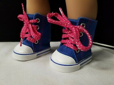 0ded6adca9d4 HOT PINK CANVAS Tennis Shoes made for 18