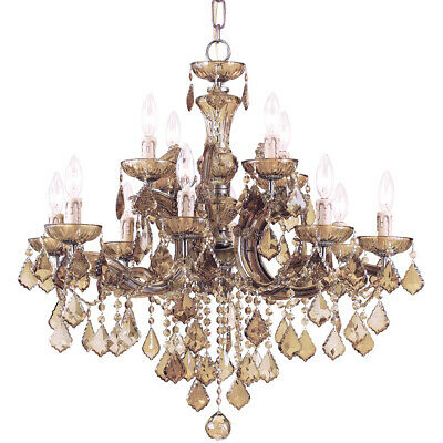 Crystorama 4479-AB-GT-MWP Maria Theresa Chandelier Antique Brass