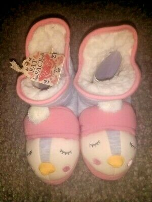 Bnwt Girls Fat Face Slippers (Small) Size 12-13 Rrp £39.99 New
