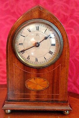 Antique German 'HAC' Inlaid Case Mantel Clock