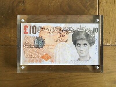 Original Banksy Tenner billet Di Faced « Banksy of england » - Great Britain