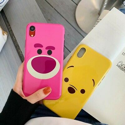 Cartoon Bear Soft Rubber Glossy Phone Cover Case For iPhone XS Max XR 6 7 8 plus