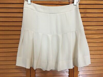 26576bb6d kate spade ivory silk crepe pleated mini skirt size 4 tennis preppy  schoolgirl